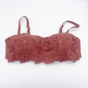 AERIE Large Convertible Bralette Molded Cup Orange
